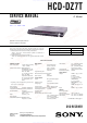 Sony HCD-DZ7T Service Manual