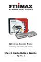Edimax EW-7209APg Quick Installation Manual
