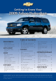 Chevrolet 2009 tahoe Getting To Know Manual