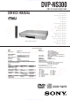 Sony DVP-NS300 Service Manual