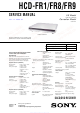 Sony HCD-FR1 Service Manual