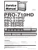 Pioneer PRO-710HD Service Manual