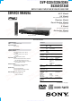 Sony DVP-S335 Service Manual