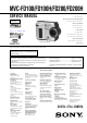 Sony MVC-FD100 Service Manual