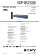 Sony BDP-BX1 Service Manual