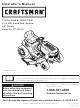 Craftsman T1400 247.203734 Operator's Manual