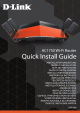 D-Link AC1750 Quick Install Manual