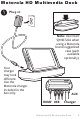 Motorola HD Multimedia Dock User Manual