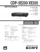 Sony CDP-XE200 Service Manual