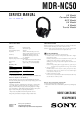 Sony mdr-nc50 Service Manual