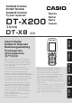 Casio DT-X200 User Manual