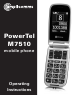 Amplicomms POWERTEL M7510 Operating Instructions Manual