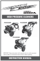 Honda PS2600HD Instruction Manual