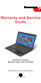 Lenovo ThinkPad X1 Carbon 20A8 Warranty And Services Manual