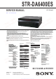 Sony STR-DA6400ES Service Manual
