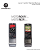 Motorola MOTORIZR Z6tv Service Manual
