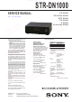 Sony STR-DN1000 Service Manual
