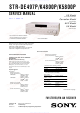 Sony STR-K4800P - A/v Receiver Service Manual