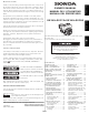 Honda Car Engine GX340 Owner's Manual