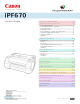 Canon iPF670 User Manual