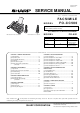Sharp FO-CC500 Service Manual