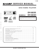 Sharp DV-600S Service Manual