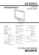 Sony KZ-32TS1U Service Manual
