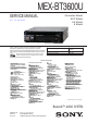 Sony MEX-BT3600U Service Manual