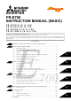 Mitsubishi Electric FR-E720-0.1K Basic Instruction Manual