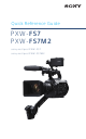 Sony PXW-FS7 Quick Reference Manual