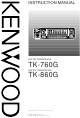 Kenwood TK-760G Instruction Manual