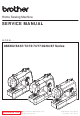 Brother 888X62 Series Service Manual