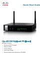 Cisco RV110W Quick Start Manual