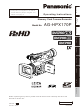 Panasonic AG-HPX170P Operating Instructions Manual