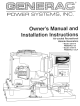 Generac Power Systems 02010-0 PRIMEPACT 50 Owner's Manual And Installation Instructions