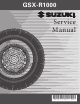 Suzuki GSX-R1000 Service Manual