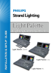 Philips 91827 Light Palette VL 3000 Installation & Setup Manual