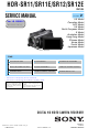 Sony HDR-SR11 Service Manual