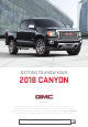 GMC 2018 CANYON Getting To Know Your