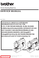 Brother X7 Service Manual