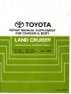 Toyota LAND CRUISER Service Manual Supplement