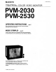Sony PVM-2030 Operating Instructions Manual