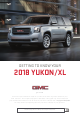 GMC YUKON 2018 Getting To Know Your