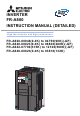 Mitsubishi Electric FR-A840-00126 (3.7K) Instruction Manual