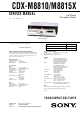 Sony CDX-M8810 - Fm/am Compact Disc Player Service Manual