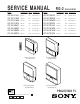 Sony KP-EF48MN Service Manual