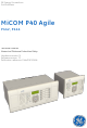 GE MiCOM P40 Agile Technical Manual