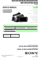 Sony DCR-SR210E Service Manual