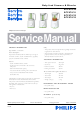 Philips SCF870/20 Service Manual