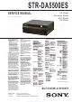 Sony STR-DA5500ES Service Manual Digest